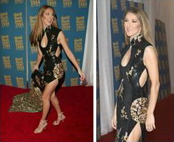 Celine Dion in chinese cheongsam