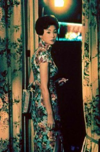 Maggie Cheung wearing a traditional qipao in the mood for love